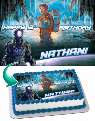 Lost in Space Edible Image Cake Topper Personalized Birthday Sheet Decoration Custom Party Frosting Transfer Fondant