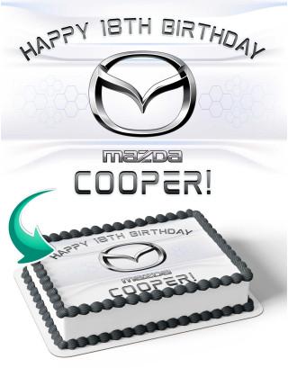 Mazda Edible Image Cake Topper Personalized Birthday Sheet Decoration Custom Party Frosting Transfer Fondant