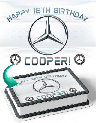 Mercedes Benz Cars Edible Image Cake Topper Personalized Birthday Sheet Decoration Custom Party Frosting Transfer Fondant