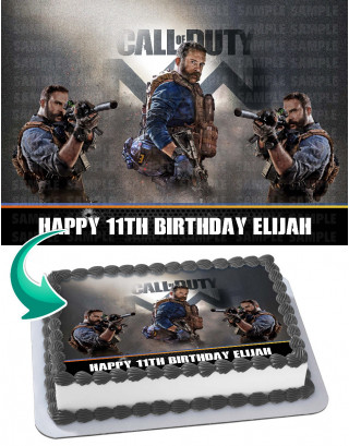 Call of Duty: Modern Warfare 2019 Edible Image Cake Topper Personalized Birthday Sheet Decoration Custom Party Frosting Transfer Fondant