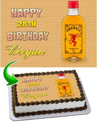 Jim Beam Edible Image Cake Topper Personalized Birthday Sheet Decoration Custom Party Frosting Transfer Fondant