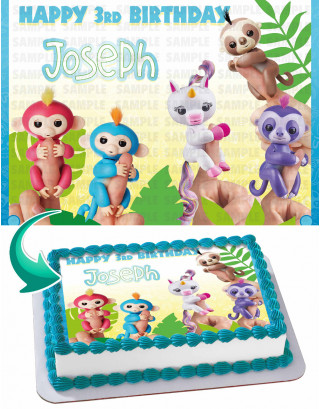 Fingerlings Edible Image Cake Topper Personalized Birthday Sheet Decoration Custom Party Frosting Transfer Fondant
