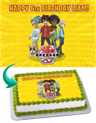 Bakugan Battle Brawlers Edible Image Cake Topper Personalized Birthday Sheet Decoration Custom Party Frosting Transfer Fondant