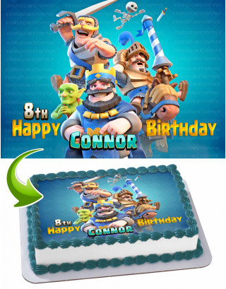 Clash Royale Edible Image Cake Topper Personalized Birthday Sheet Decoration Custom Party Frosting Transfer Fondant