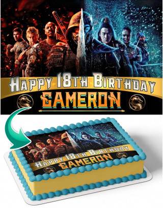 Mortal Kombat Movie 2021 Edible Image Cake Topper Personalized Birthday Sheet Decoration Custom Party Frosting Transfer Fondant