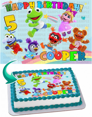 Muppet Babies Edible Cake Image Topper Personalized Birthday Sheet Decoration Custom Party Frosting Transfer Fondant
