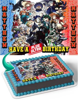 My Hero Academia Season 5 Edible Image Cake Topper Personalized Birthday Sheet Decoration Custom Party Frosting Transfer Fondant