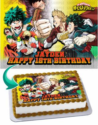 My Hero Academia Season 4 Edible Image Cake Topper Personalized Birthday Sheet Decoration Custom Party Frosting Transfer Fondant