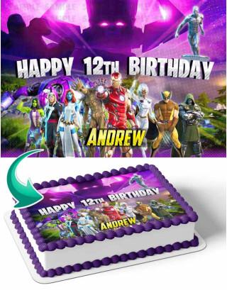 Nexus War Galactus Edible Image Cake Topper Personalized Birthday Sheet Decoration Custom Party Frosting Transfer Fondant