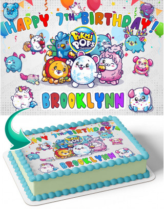 Pikmi Pops Surprise Edible Image Cake Topper Personalized Birthday Sheet Decoration Custom Party Frosting Transfer Fondant