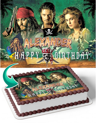 Pirates of the Caribbean Dead Mans Chest Edible Image Cake Topper Personalized Birthday Sheet Decoration Custom Party Frosting Transfer Fondant