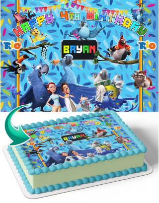 Rio Birds Movie Edible Image Cake Topper Personalized Birthday Sheet Decoration Custom Party Frosting Transfer Fondant