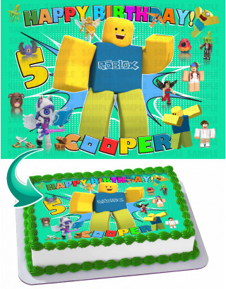Roblox 2020 Edible Image Cake Topper Personalized Birthday Sheet Decoration Custom Party Frosting Transfer Fondant