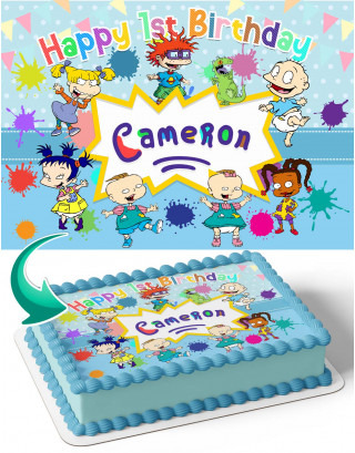 Rugrats RG Edible Image Cake Topper Personalized Birthday Sheet Decoration Custom Party Frosting Transfer Fondant