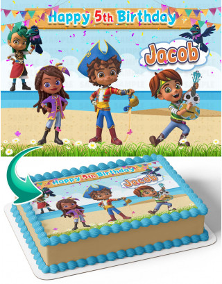 Santiago Of The Seas Edible Image Cake Topper Personalized Birthday Sheet Decoration Custom Party Frosting Transfer Fondant