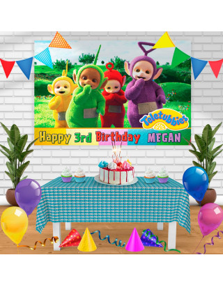 teletubbies Birthday Banner Personalized Party Backdrop Decoration