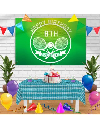TENNIS Birthday Banner Personalized Party Backdrop Decoration