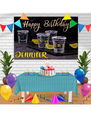 tequila Birthday Banner Personalized Party Backdrop Decoration