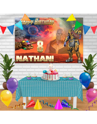 THANOS1 Birthday Banner Personalized Party Backdrop Decoration