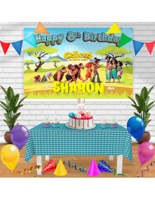 The Croods A New Age Birthday Banner Personalized Party Backdrop Decoration