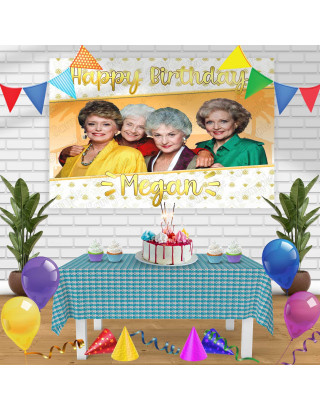 The Golden Girls Birthday Banner Personalized Party Backdrop Decoration