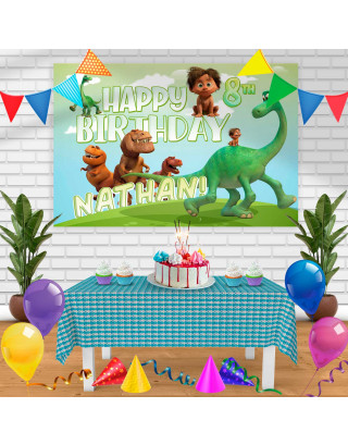 The Good Dinosaur GD Birthday Banner Personalized Party Backdrop Decoration