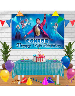 The Greatest Showman Birthday Banner Personalized Party Backdrop Decoration