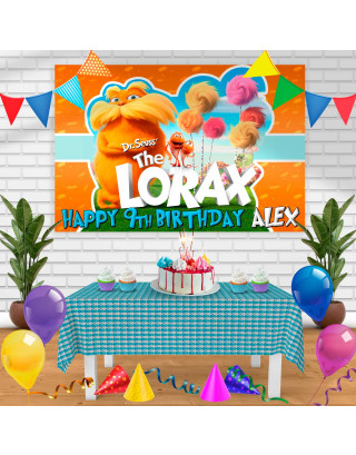 the lorax Birthday Banner Personalized Party Backdrop Decoration