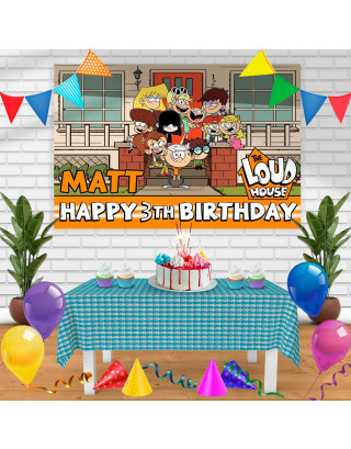 the loud house Birthday Banner Personalized Party Backdrop Decoration