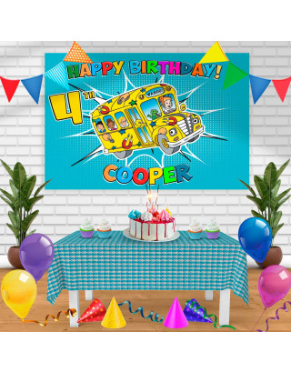 The Magic School Bus Birthday Banner Personalized Party Backdrop Decoration