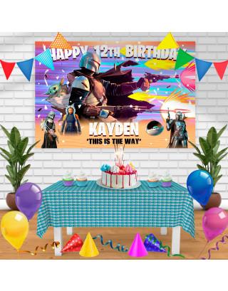 The Mandalorian Season 2 Birthday Banner Personalized Party Backdrop Decoration