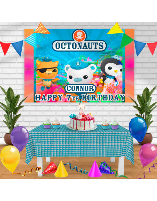 The Octonauts Birthday Banner Personalized Party Backdrop Decoration
