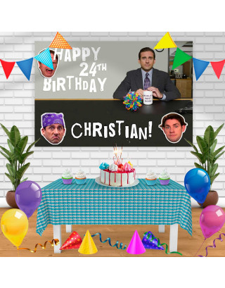 The Office Birthday Banner Personalized Party Backdrop Decoration