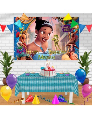 The princess and the frog Birthday Banner Personalized Party Backdrop Decoration