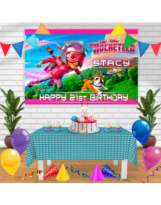The Rocketeer Birthday Banner Personalized Party Backdrop Decoration