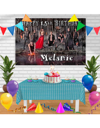 The Vampire Diaries Birthday Banner Personalized Party Backdrop Decoration