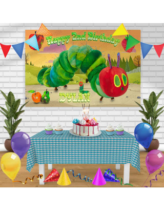The Very Hungry Caterpillar Birthday Banner Personalized Party Backdrop Decoration