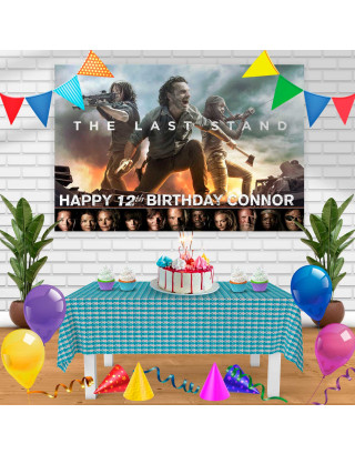 The Walking Dead 2 Birthday Banner Personalized Party Backdrop Decoration