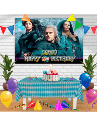 The Witcher TV Show 2019 Birthday Banner Personalized Party Backdrop Decoration