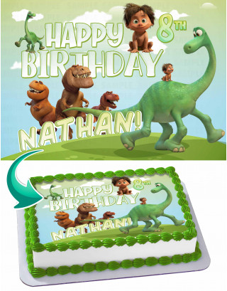 The Good Dinasour Edible Image Cake Topper Personalized Birthday Sheet Decoration Custom Party Frosting Transfer Fondant