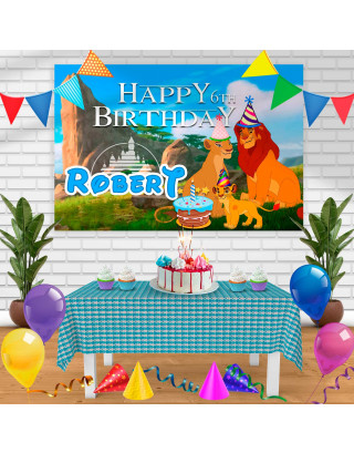 TheLionKing Birthday Banner Personalized Party Backdrop Decoration