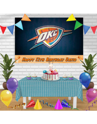 THUNDER Birthday Banner Personalized Party Backdrop Decoration
