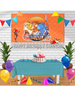 Thundercats Birthday Banner Personalized Party Backdrop Decoration