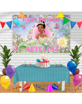 Tiana the princess and the frog Birthday Banner Personalized Party Backdrop Decoration