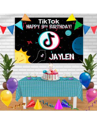 TIKTOK Birthday Banner Personalized Party Backdrop Decoration