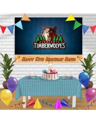 TIMBERWOLWES Birthday Banner Personalized Party Backdrop Decoration