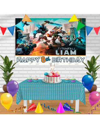 Titan Fall2 Birthday Banner Personalized Party Backdrop Decoration