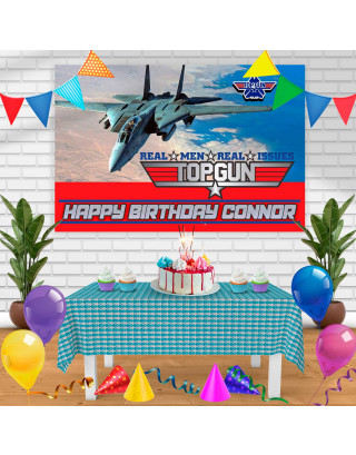 Top Gun Birthday Banner Personalized Party Backdrop Decoration