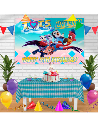 TOTS 1 Birthday Banner Personalized Party Backdrop Decoration