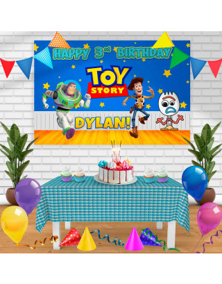 Toys story2 Birthday Banner Personalized Party Backdrop Decoration